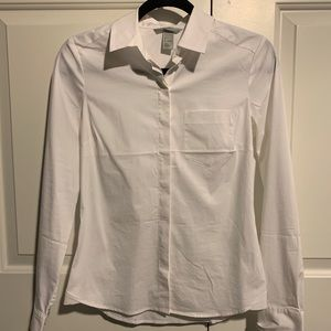 White long sleeve button up